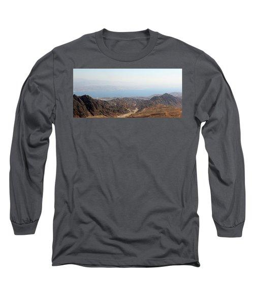 Dead Sea-israel Long Sleeve T-Shirt by Denise Moore