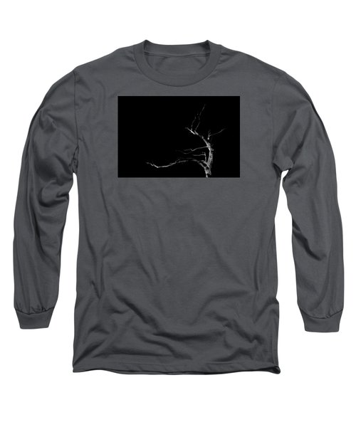 Dead Tree On Black Background Long Sleeve T-Shirt