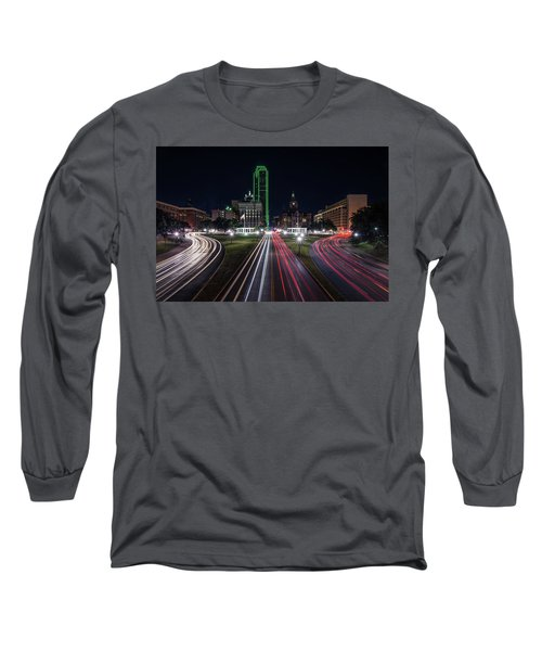 Dealey Plaza Dallas At Night Long Sleeve T-Shirt