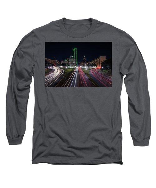 Dealey Plaza Dallas At Night Long Sleeve T-Shirt