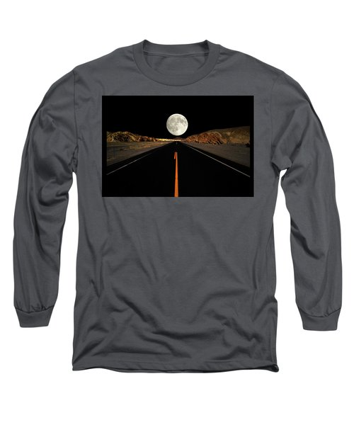 Death Valley Moon Rise Long Sleeve T-Shirt