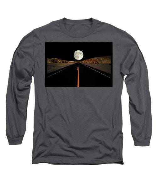 Death Valley Moon Rise Long Sleeve T-Shirt