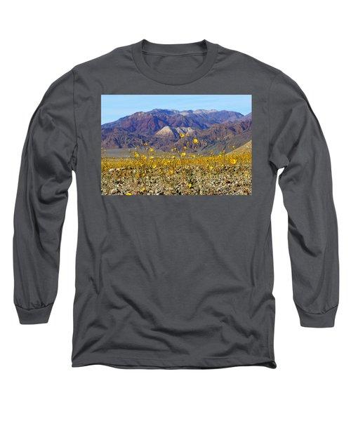 Death Valley Superbloom 405 Long Sleeve T-Shirt by Daniel Woodrum