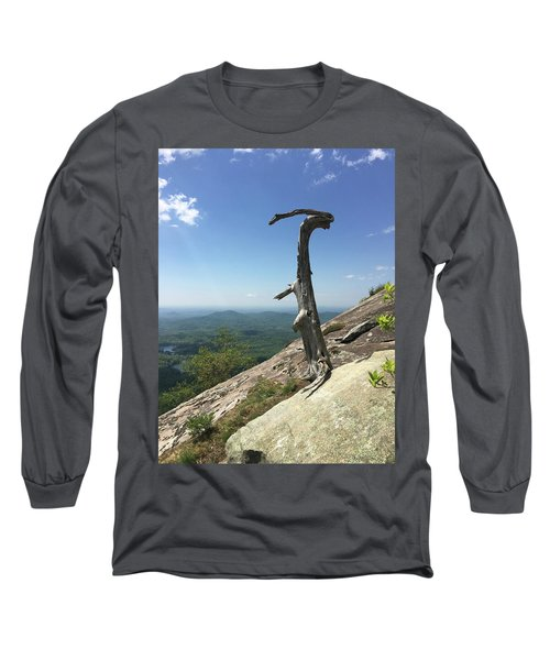 Decaying Tree At The Top Of Table Rock Trail South Carolina Long Sleeve T-Shirt
