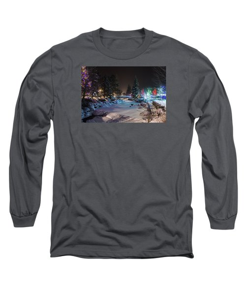 Long Sleeve T-Shirt featuring the photograph December On The Riverwalk by Perspective Imagery