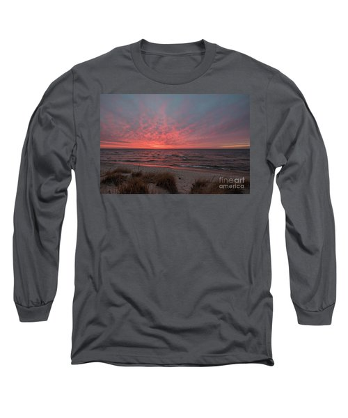 December Sunset On Lake Michigan Long Sleeve T-Shirt