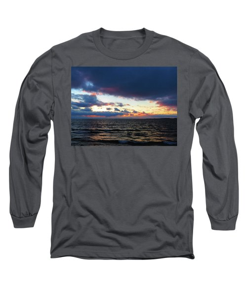 December Sunset, Wolfe Island, Ca. View From Tibbetts Point Lighthouse Long Sleeve T-Shirt