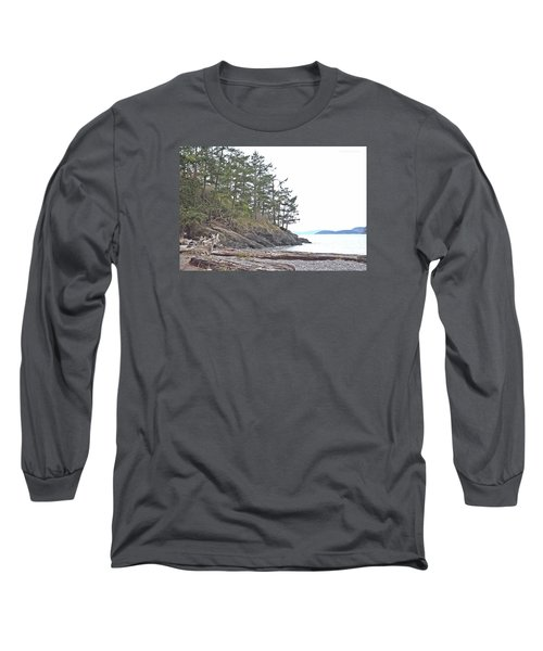 Deception Pass In Late December  Long Sleeve T-Shirt by Tobeimean Peter