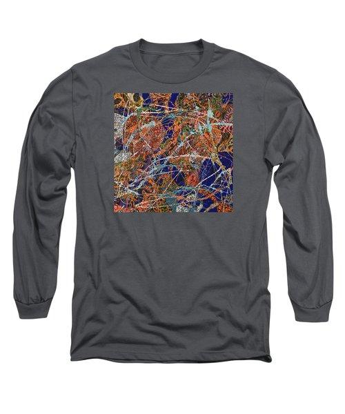 Deep Blue  Long Sleeve T-Shirt by Erika Pochybova