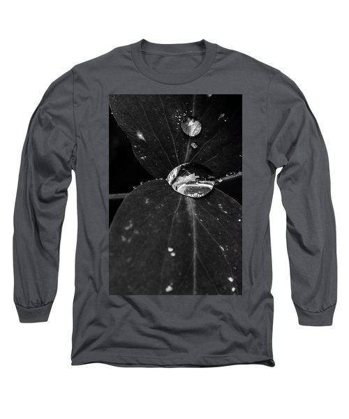 Long Sleeve T-Shirt featuring the photograph Deep Refraction Between Leaves by Darcy Michaelchuk