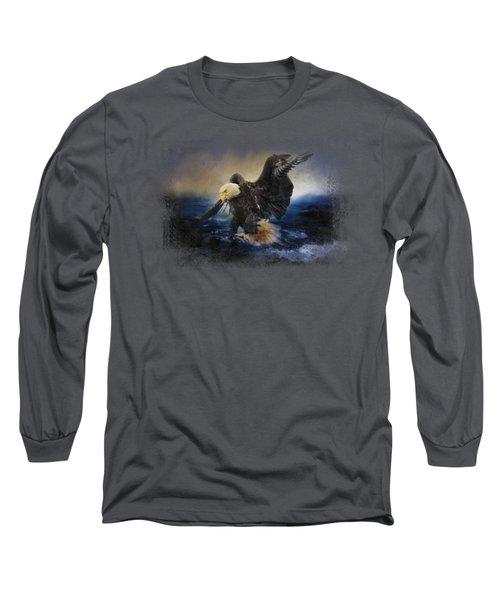 Deep Sea Fishing Long Sleeve T-Shirt by Jai Johnson