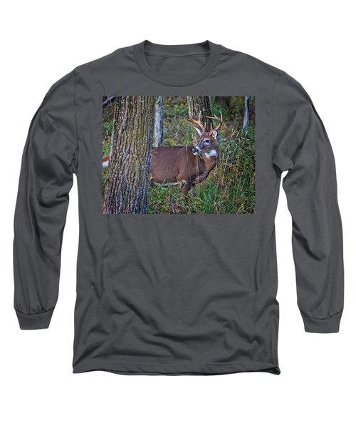 Deer In The Woods Long Sleeve T-Shirt