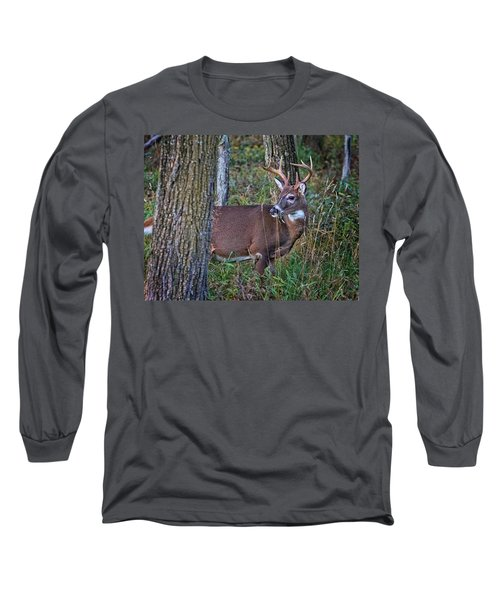 Deer In The Woods Long Sleeve T-Shirt
