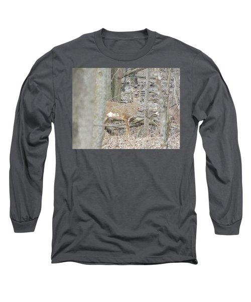 Deer Keeping Watch Long Sleeve T-Shirt