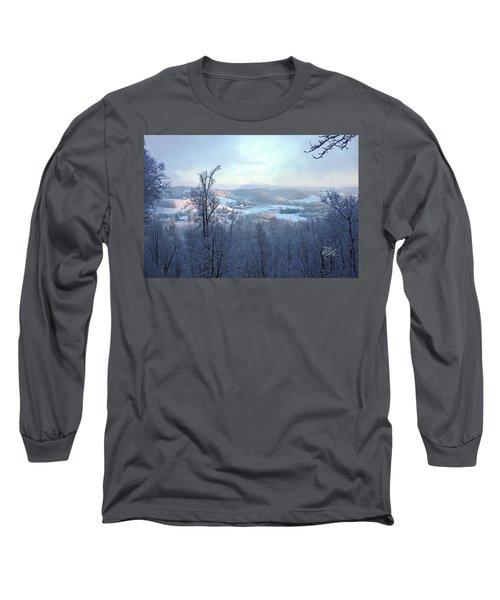 Deer Valley Winter View Long Sleeve T-Shirt by Meta Gatschenberger