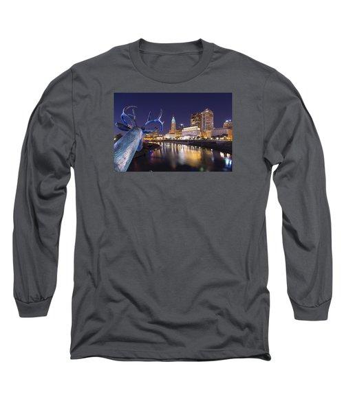 Deer View Columbus Long Sleeve T-Shirt by Alan Raasch