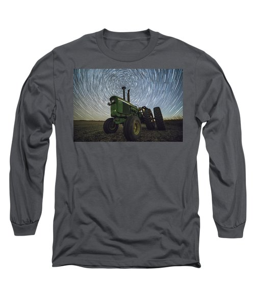 Long Sleeve T-Shirt featuring the photograph Deere Trails  by Aaron J Groen