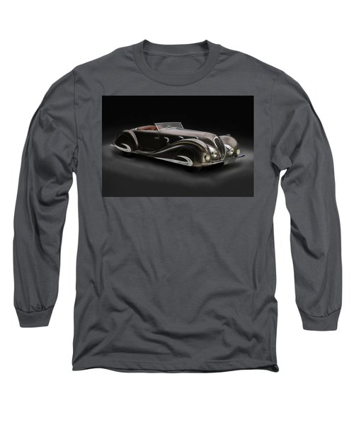Long Sleeve T-Shirt featuring the digital art Delahaye 1930's Art In Motion by Marvin Blaine