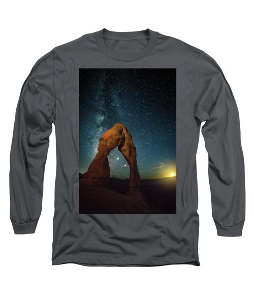 Delicate Arch Moonset Long Sleeve T-Shirt