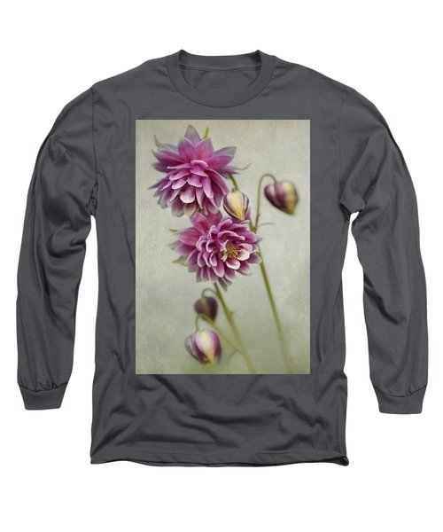 Delicate Pink Columbine Long Sleeve T-Shirt