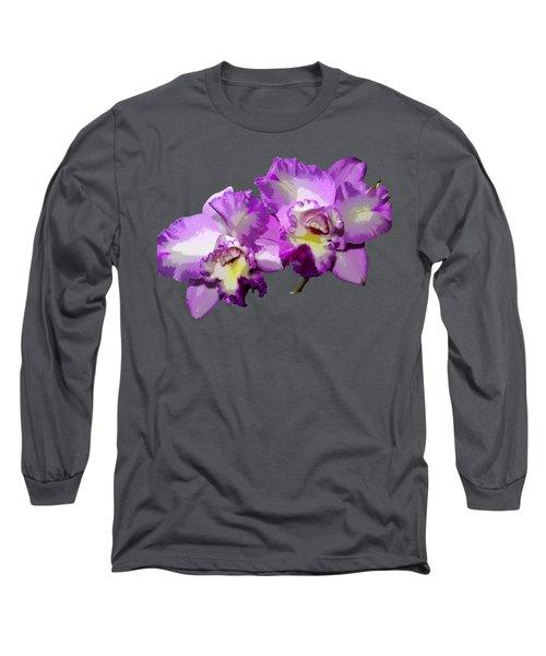 Delicate Purple Orchids Long Sleeve T-Shirt