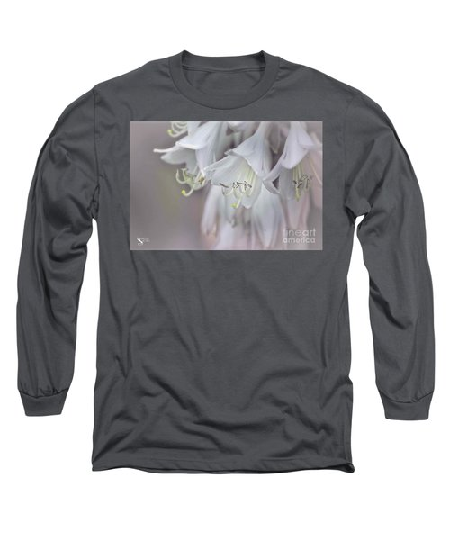 Delicate White Flowers Long Sleeve T-Shirt