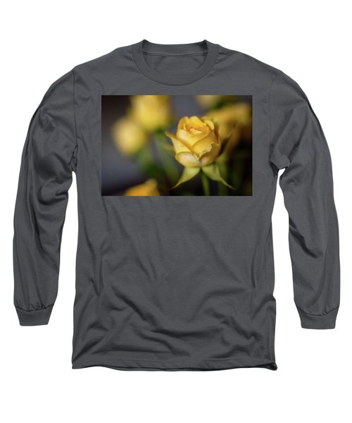 Long Sleeve T-Shirt featuring the photograph Delicate Yellow Rose  by Terry DeLuco