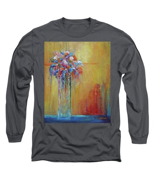 Delivered In Time Long Sleeve T-Shirt by Roberta Rotunda