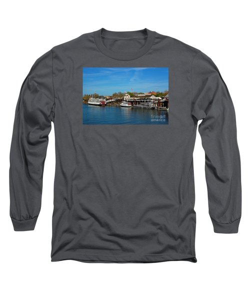 Long Sleeve T-Shirt featuring the photograph Delta King by Debra Thompson