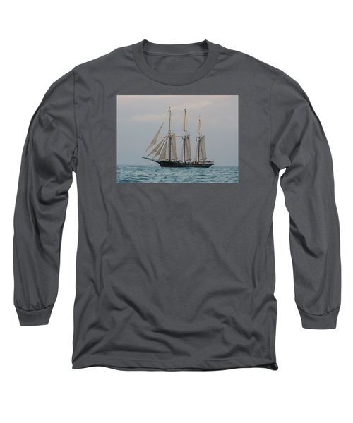 Long Sleeve T-Shirt featuring the photograph Denis Sullivan Out On An Evening Sail by Janice Adomeit