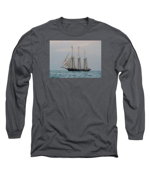 Denis Sullivan Out On An Evening Sail Long Sleeve T-Shirt