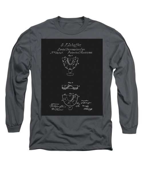 Dental Mold Patent Long Sleeve T-Shirt by Dan Sproul