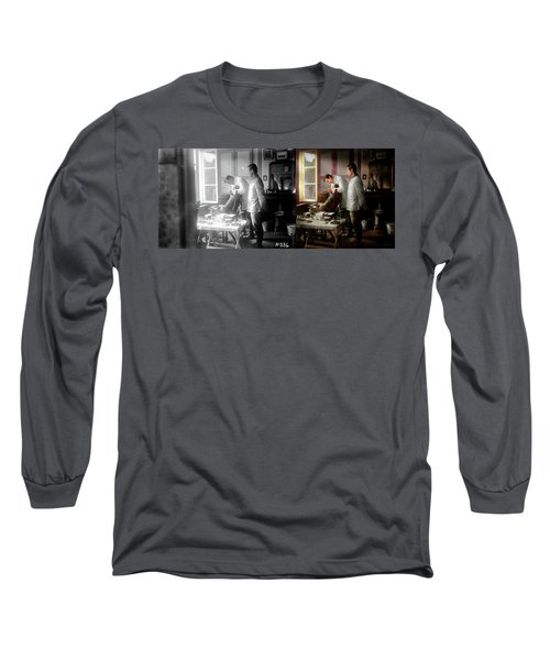 Long Sleeve T-Shirt featuring the photograph Dentist - The Horrors Of War 1917 - Side By Side by Mike Savad
