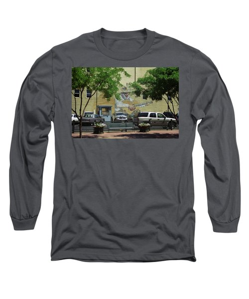 Long Sleeve T-Shirt featuring the photograph Denver Cowboy Parking by Frank Romeo