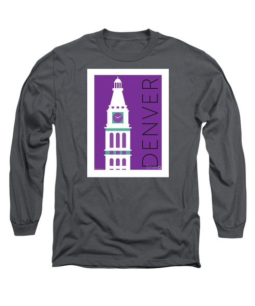 Denver D And F Tower/purple Long Sleeve T-Shirt