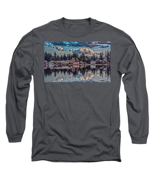 Long Sleeve T-Shirt featuring the digital art Depot 8 by Timothy Latta