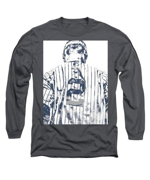 Derek Jeter New York Yankees Pixel Art 11 Long Sleeve T-Shirt