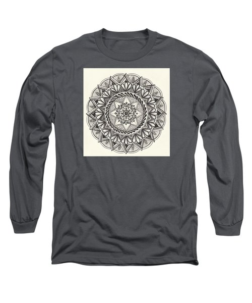 Des Tapestry Medallion Long Sleeve T-Shirt by Kathy Sheeran