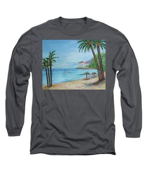 Descanso Beach, Catalina Long Sleeve T-Shirt