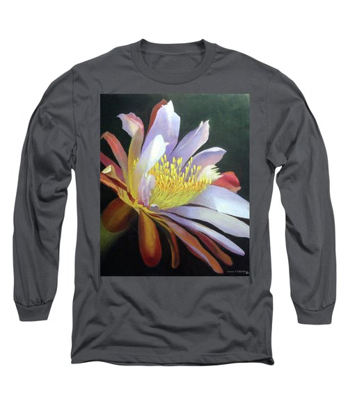 Desert Cactus Flower Long Sleeve T-Shirt