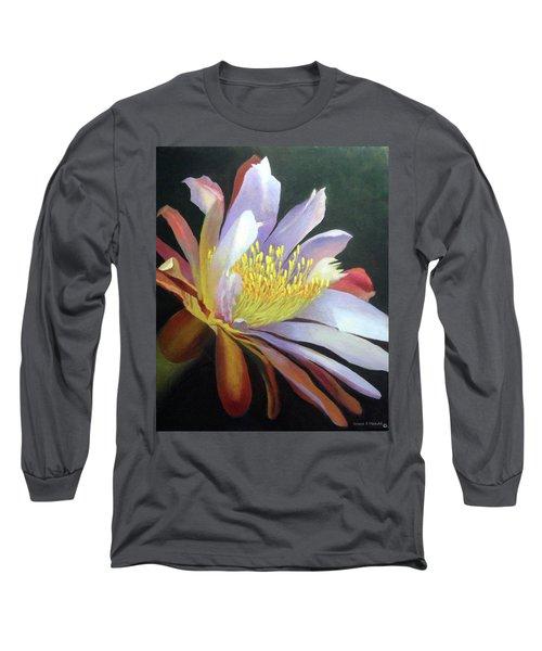 Desert Cactus Flower Long Sleeve T-Shirt