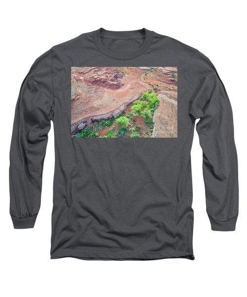 desert canyon in Utah aerial view Long Sleeve T-Shirt
