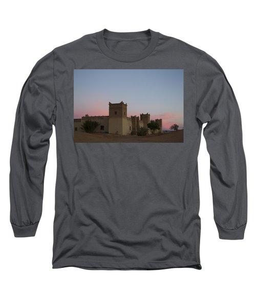 Desert Kasbah Morocco Long Sleeve T-Shirt by Kathy Adams Clark