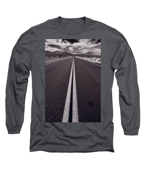Desert Road Trip B W Long Sleeve T-Shirt