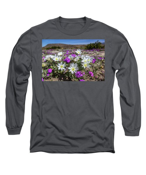 Long Sleeve T-Shirt featuring the photograph Desert Super Bloom 2017 by Peter Tellone