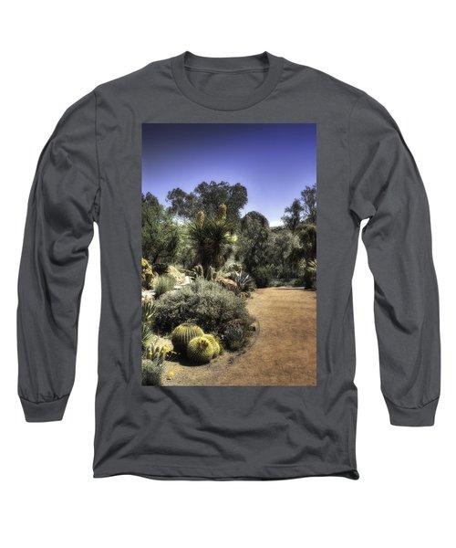 Desert Walkway Long Sleeve T-Shirt by Lynn Geoffroy