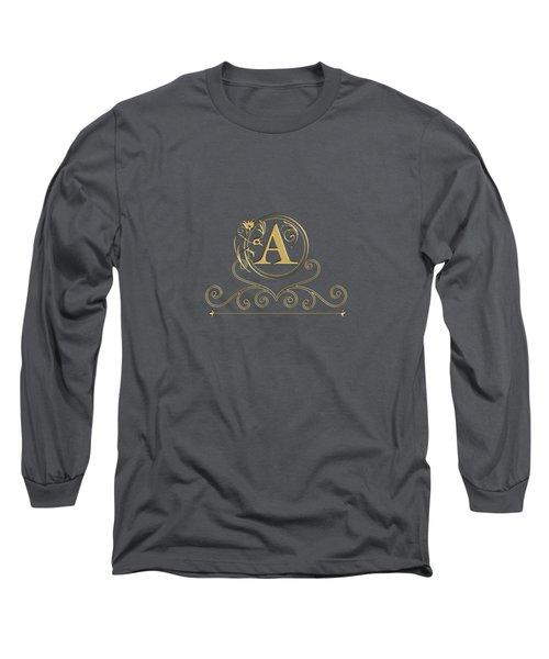Initial A Long Sleeve T-Shirt