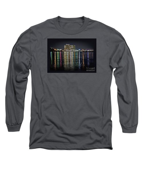 Destin Night Across The Estuary Long Sleeve T-Shirt by Walt Foegelle