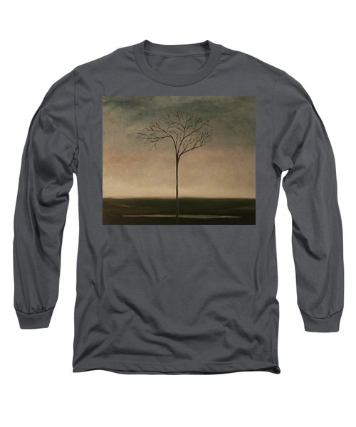 Long Sleeve T-Shirt featuring the painting Det Lille Treet - The Little Tree by Tone Aanderaa