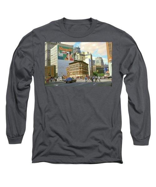 Detroit Michigan 84 - Watercolor Long Sleeve T-Shirt